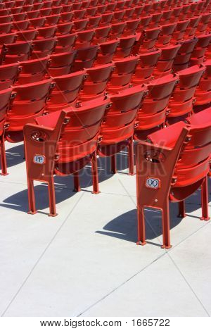 Red Plastic Seats, Rear Side