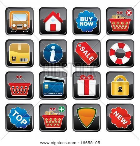 Shopping Icon Set. Easy To Edit Vector.