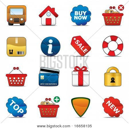Shopping Icon Set. Easy To Edit Vector Image.