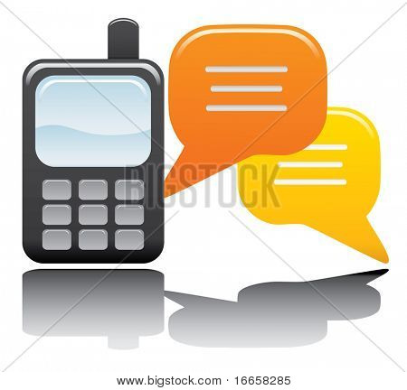 Telefon und Chat Vektor Icon