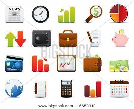 Finanzen-Icon-Set. Leicht zu Vektor-Bild bearbeiten.