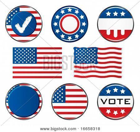 Conjunto de iconos de voto. Fácil de editar el Vector de la imagen.