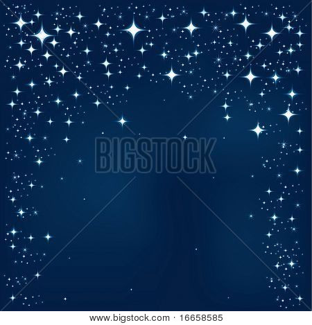 Blue Star Vector Background. Star Background Series.