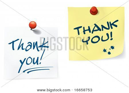Thank You Notes Set. easy To Edit Vector Image.