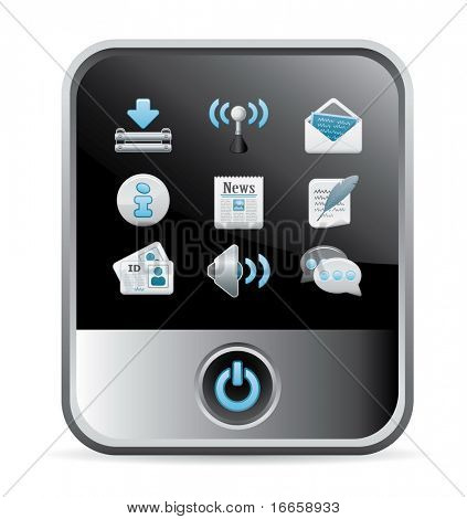 Modern Phone Web Icon. Lumi Vector Series.