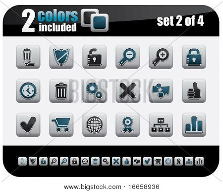 Web Icons Set. Steelo Series. Set 2 of 4.