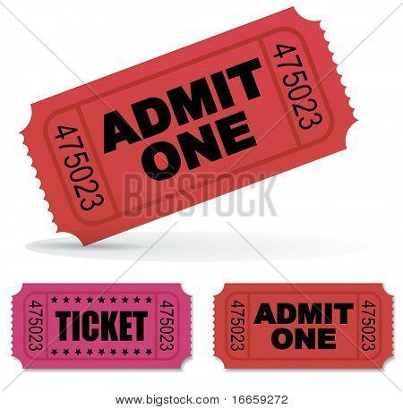 Admit one Vector Tickets Set