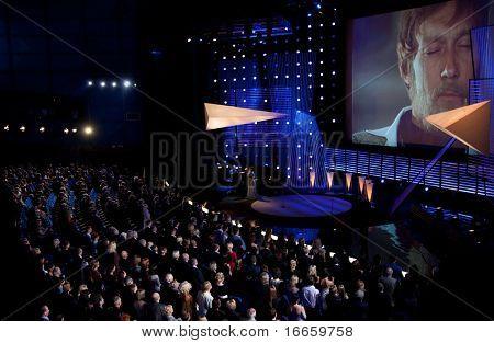 MOSCOW - JUNE,19: In Memoriam Oleg Yankovsky. Portrait Of Actor Oleg Yankovsky On The Screen. Opening Of 31st Moscow International Film Festival at Pushkinsky Cinema. June 19, 2009 in Moscow, Russia.