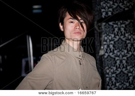 MOSCOW - JUNE,24: Japanese audiovisual artist Ryoichi Kurokawa.  Closure of X Media Forum Within 31st Moscow International Film Festival at Club Barkhat. June 24, 2009 in Moscow, Russia.