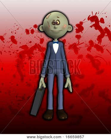 Cartoon Zombie Businessman