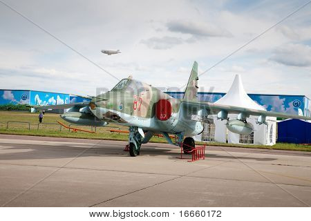 MOSCOW, RUSSIA, AUGUST,19: Fighter  at the International Aviation and Space salon MAKS,  August,19, 2009 at Zhukovsky, Russia