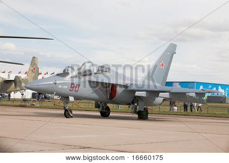 MOSCOW, RUSSIA, AUGUST,19: Fighter Yak-130 at the International Aviation and Space salon MAKS,  August,19, 2009 at Zhukovsky, Russia