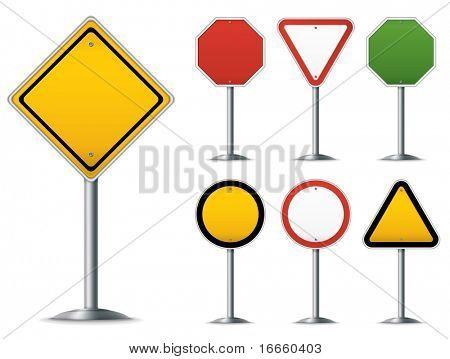 Legen Sie die leere Verkehrszeichen. Leicht zu Vektor-Bild bearbeiten.