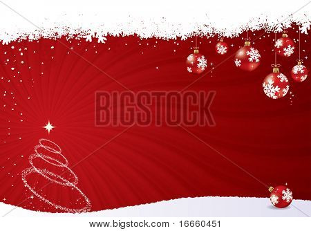 Red vector christmas background. Christmas vector collection.