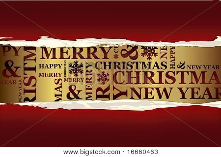 Merry Christmas greeting card. Vector Christmas collection.