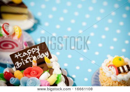 Pasteles de feliz cumpleaños. Colección de celebración.
