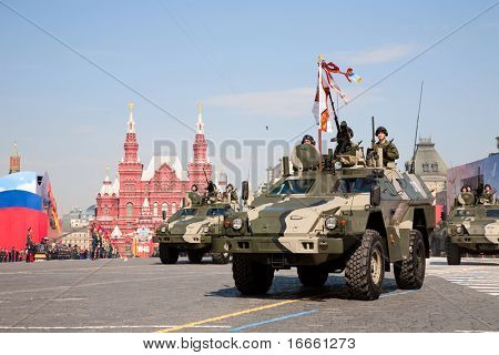 "MOSCOW - MAY 9: ""Dozor"" reconnaissance and patrol vehicle . Military Parade on 65th anniversary of Victory in Great Patriotic War on May 9, 2010 on Red Square in Moscow, Russia"