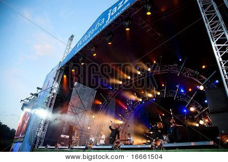 ARKHANGELSKOE - JUNE 6: Big Beat Jam Band. 7th International Jazz Festival