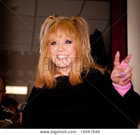 "MOSCOW - JUNE 10: Russian Singer Alla Pugacheva. Concert ""Songs for Alla"" in the Concert hall ""Crocus City Hall"" on June 10, 2010 in Moscow, Russia"