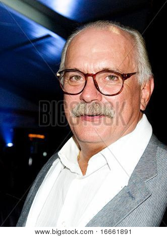 MOSCOW - JUNE,17: Director Nikita Mikhalkov. Afterparty of Opening Ceremony Of 32st Moscow International Film Festival. June 17, 2010 in Moscow, Russia.