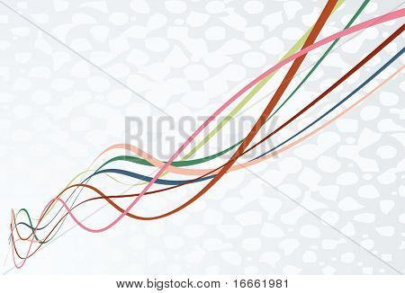 Colorful vector ribbons simple background