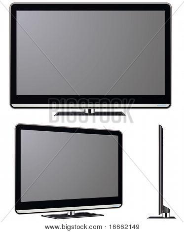 Vector televisor moderno. Colección de vectores de electrónica.