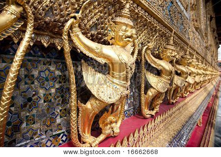 Garuda, King of the birds. Emerald Buddha Temple. Grand Palace, Bangkok, Thailand