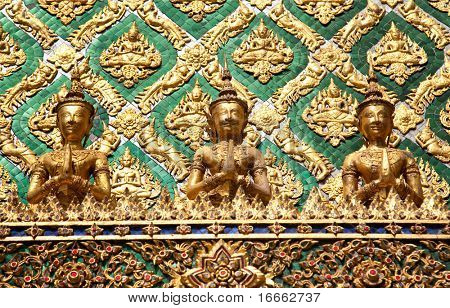 Emerald Buddha Temple. Grand Palace, Bangkok, Thailand