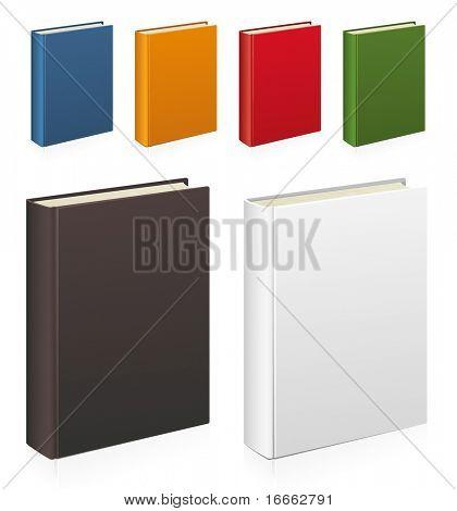 Conjunto de livros coloridos vector