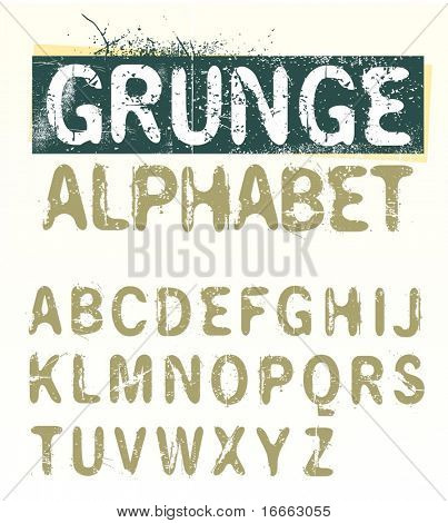 Vector Grunge alfabeto