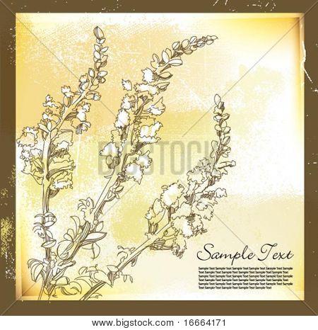 Floral Grußkarte