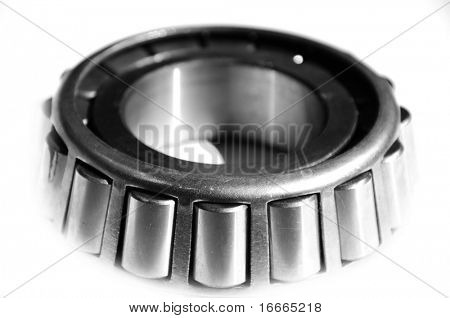 Jointed ball bearing isolated on white background