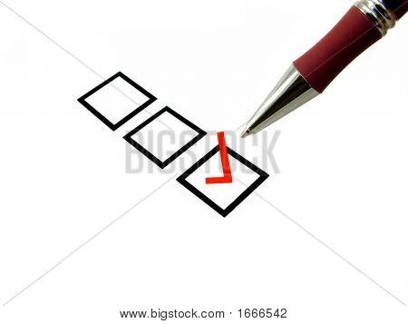 Caneta e caixa selecionada