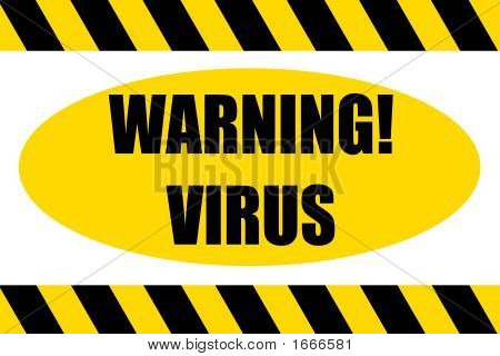 Warning Hazard Sign Virus Ahead