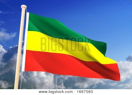 Ethiopia Flag (Clipping Path)