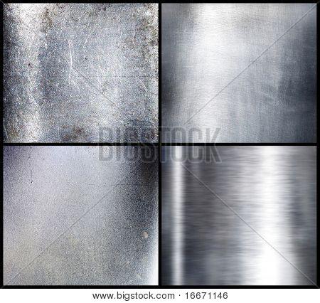 Brushed silver metal. Set. Hi-res.