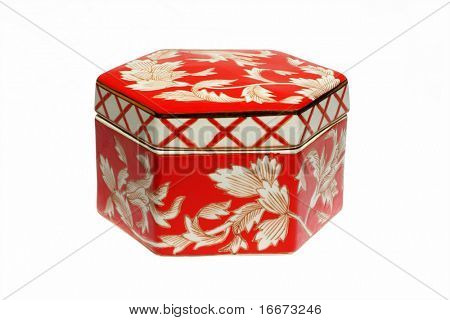 perfect red chinese casket