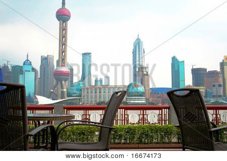 Coffee table with rattan chairs in shanghai