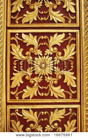 golden flower repeat on door
