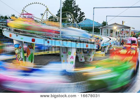 motion car in amusement park