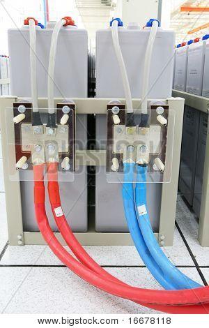 A bateria de armazenamento para central de comunicação celular