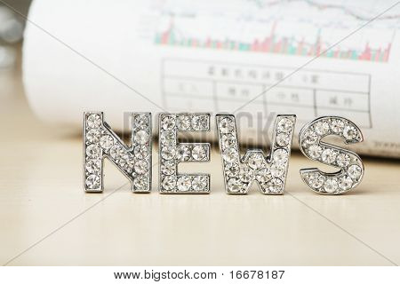 text of 'news' with  newspaper
