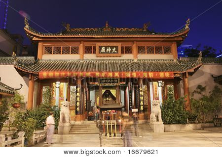 Scene from temple in changsha ,china