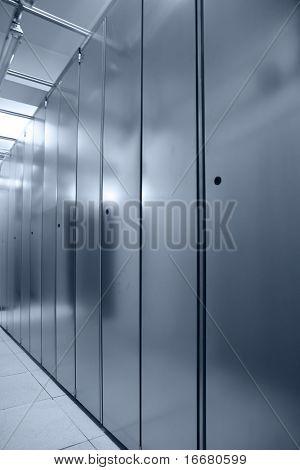 communication server ceter interior( in blue tone)