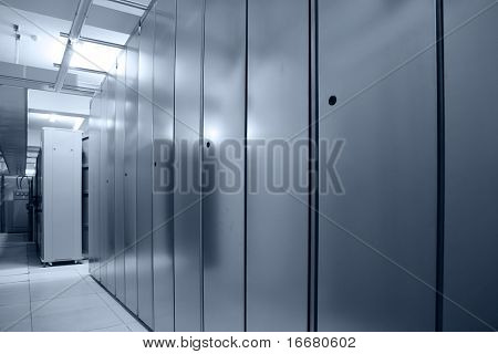 communication server center(in blue tone)