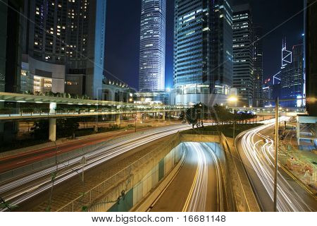 traffic through downtown HongKong