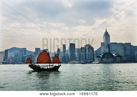 Hongkong,CN - Dec 13: view of Hong Kong's Vicotria harbor Dec 13, 2008 in Hongkong,CN.