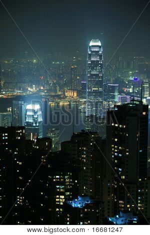 night scene of Hong Kong