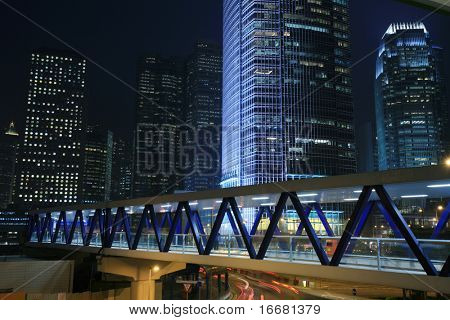 night scene of Hongkong