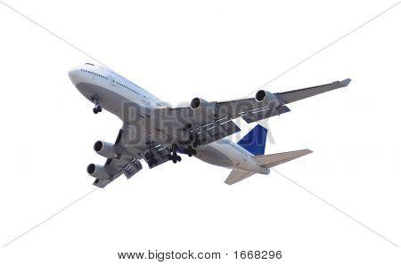 Airplane On White